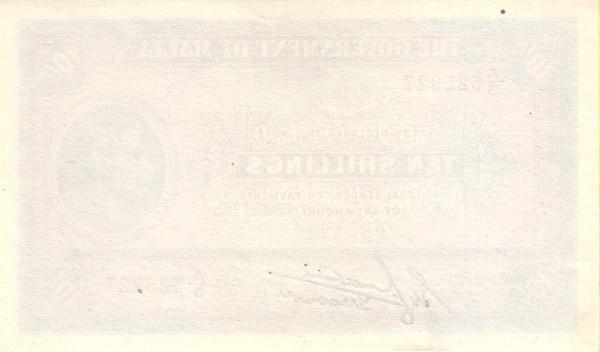Malta 10 Shillings (1940-1943 George VI)