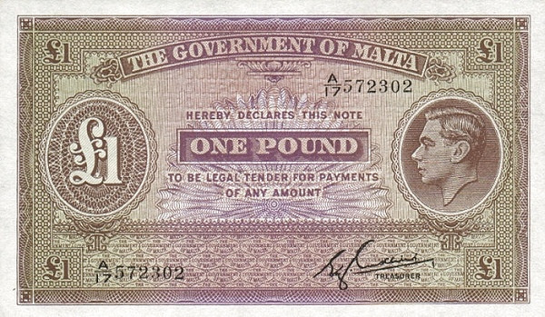 Malta 1 Pound (1940-1943 George VI)