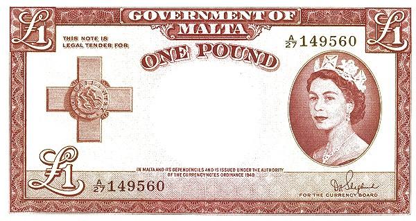 Malta 1 Pound (1949 - Elizabeth II)