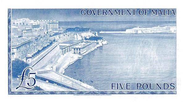 Malta 5 Pounds (1963 - Elizabeth II)
