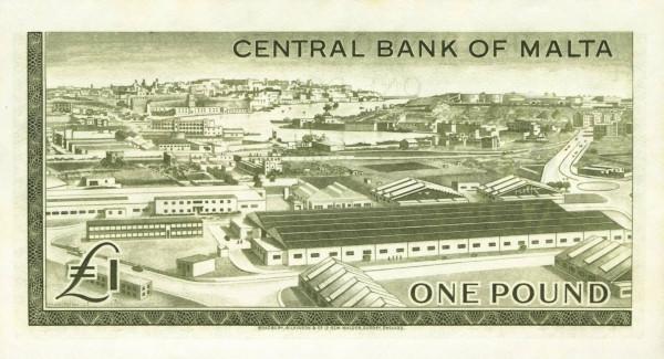 Malta 1 Pound (1967 - Elizabeth II)