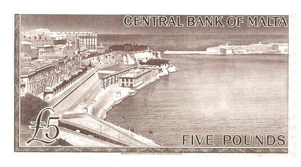 Malta 5 Pounds (1967 - Elizabeth II)
