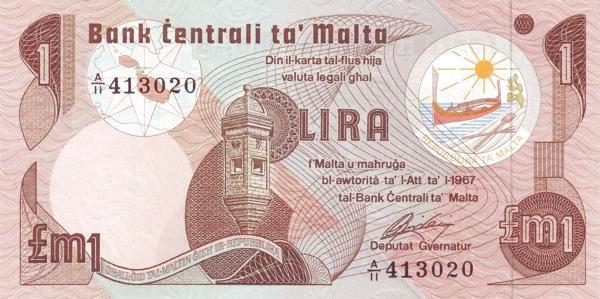 Malta 1 Lira  (1979)