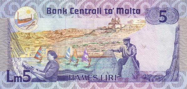 Malta 5 Liri  (1986 Agata Barbara)