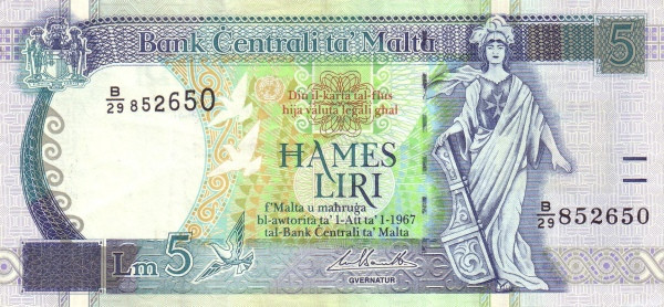 Malta 5 Liri  (1994)
