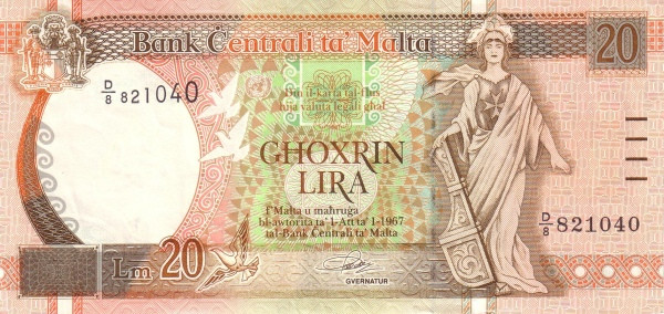 Malta 20 Liri  (1994)