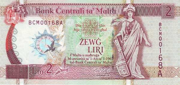 Malta 2 Liri  (2000 Millennium)