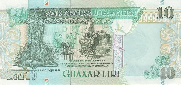 Malta 10 Liri  (2000 Millennium)