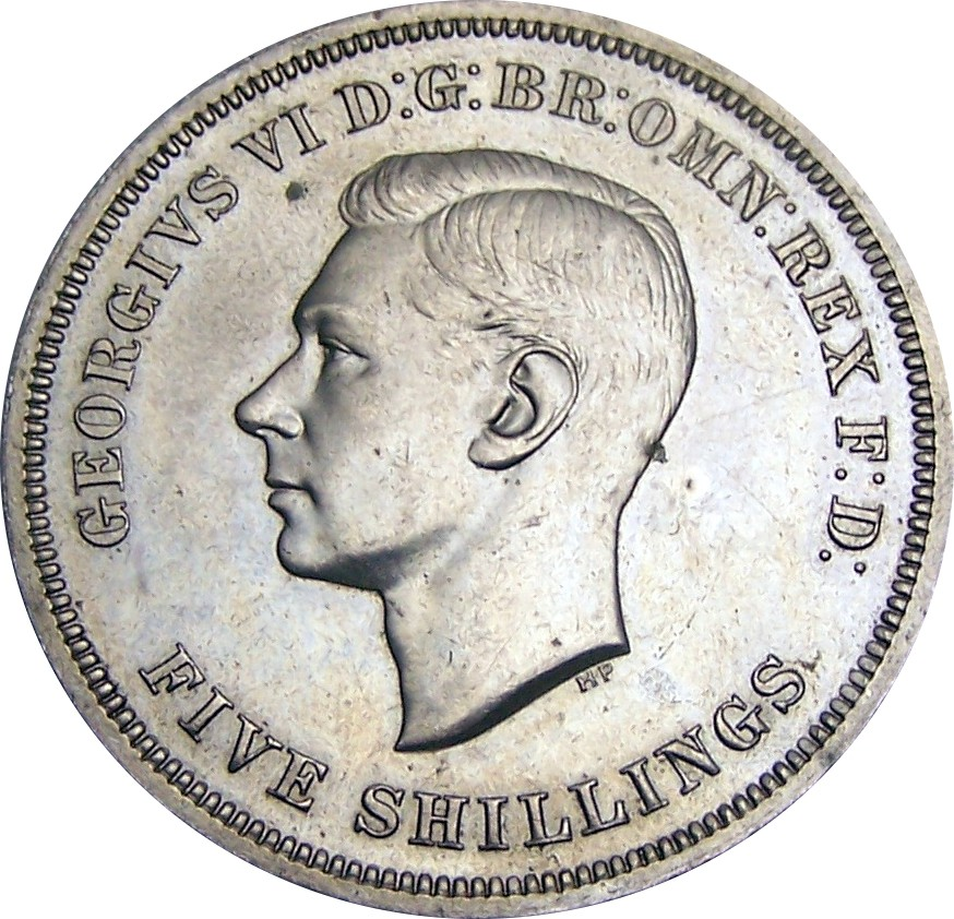 British 5 Shillings