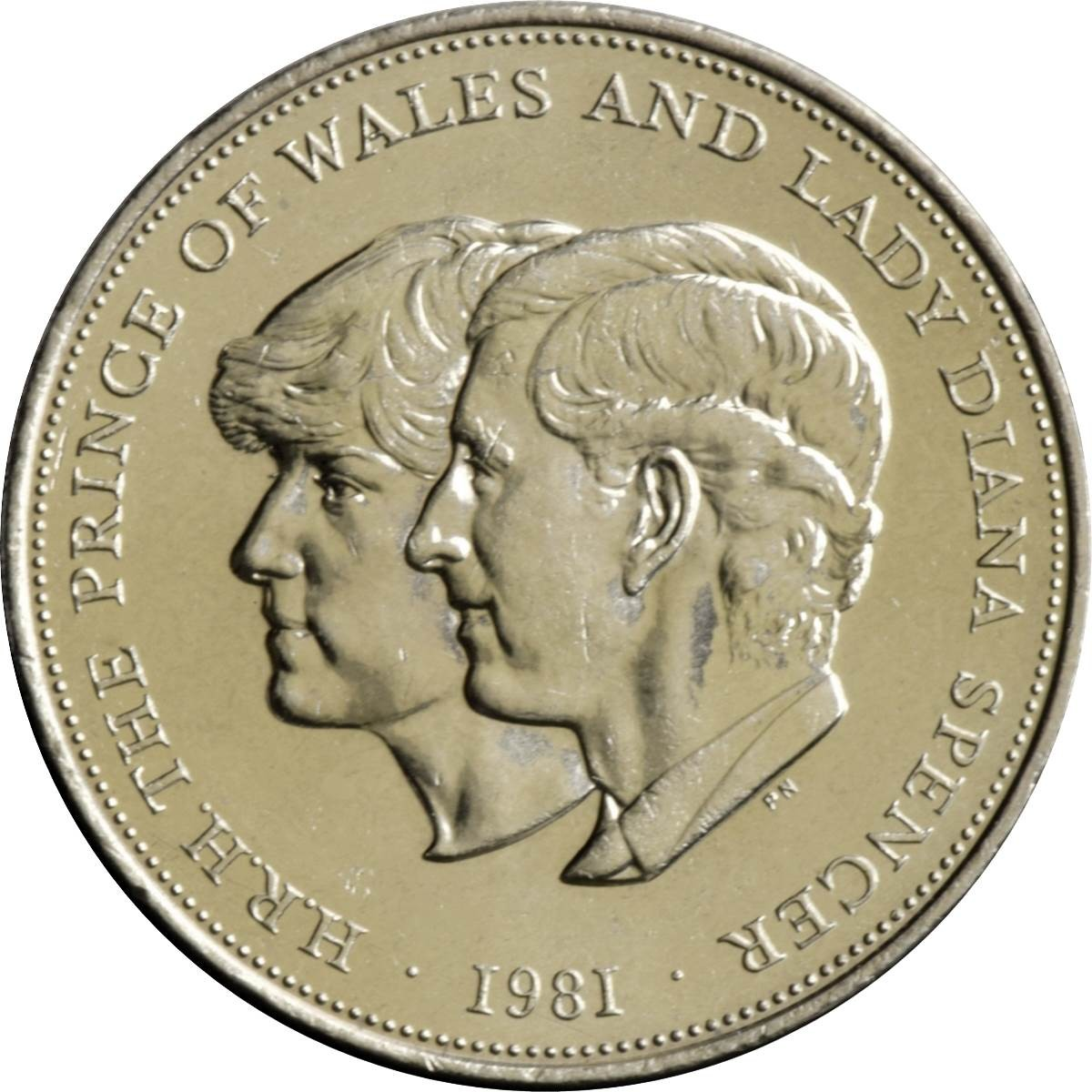 British 1 Crown (Charles And Diana Royal Wedding 1981)