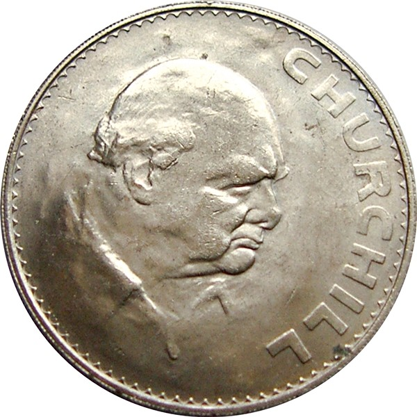 British 1 Crown ( Churchill 1965)