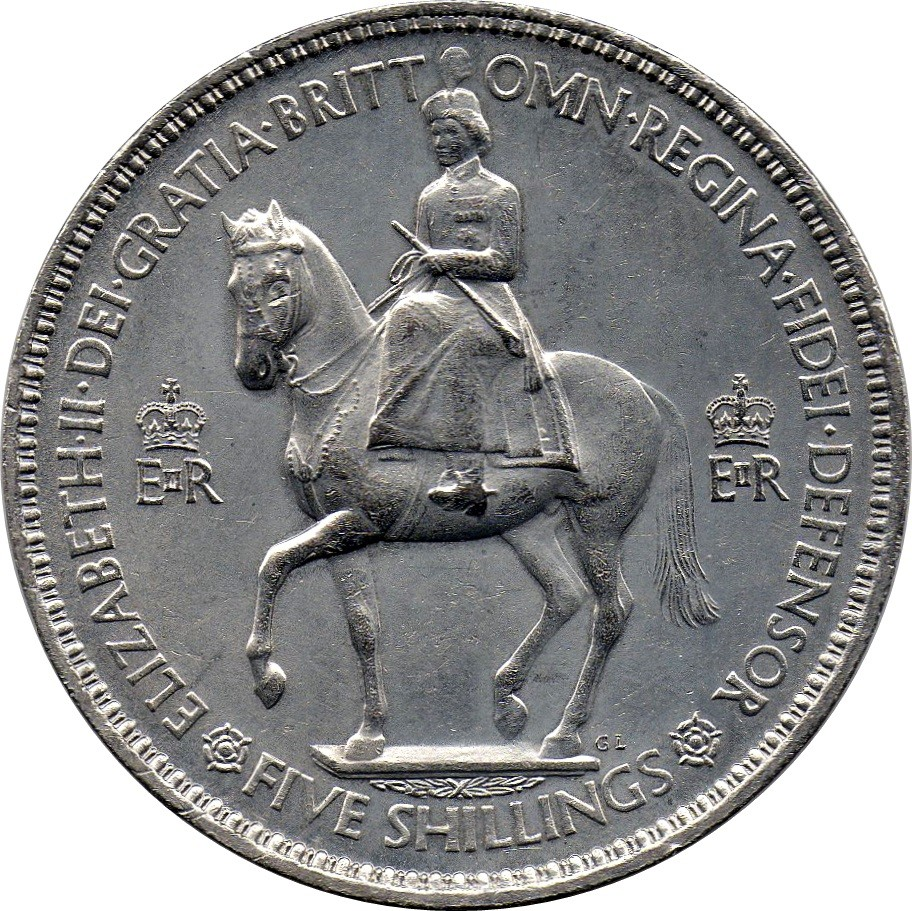 British 5 Shillings (Coronation Crown 1953)