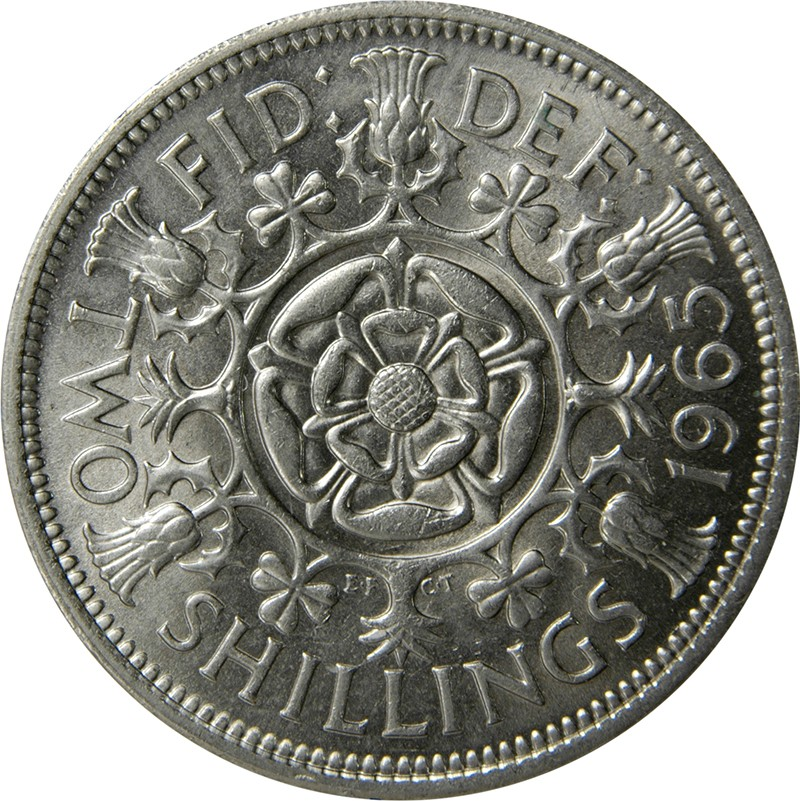 British 2 Shillings