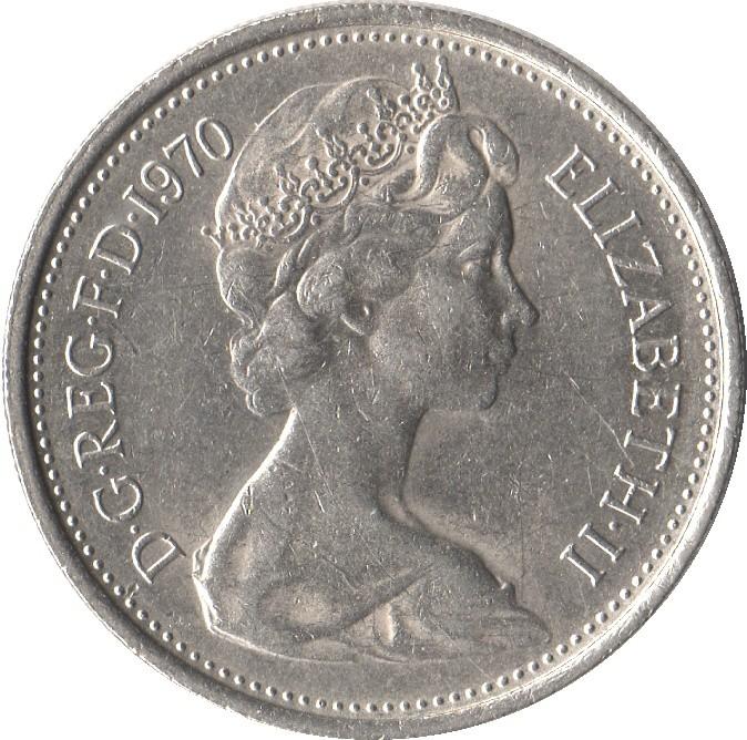British 5 Pence (Large Style )