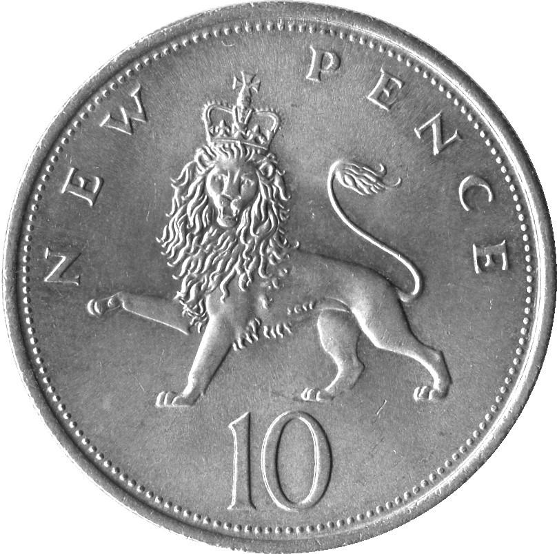 British 10 Pence (Large Style )