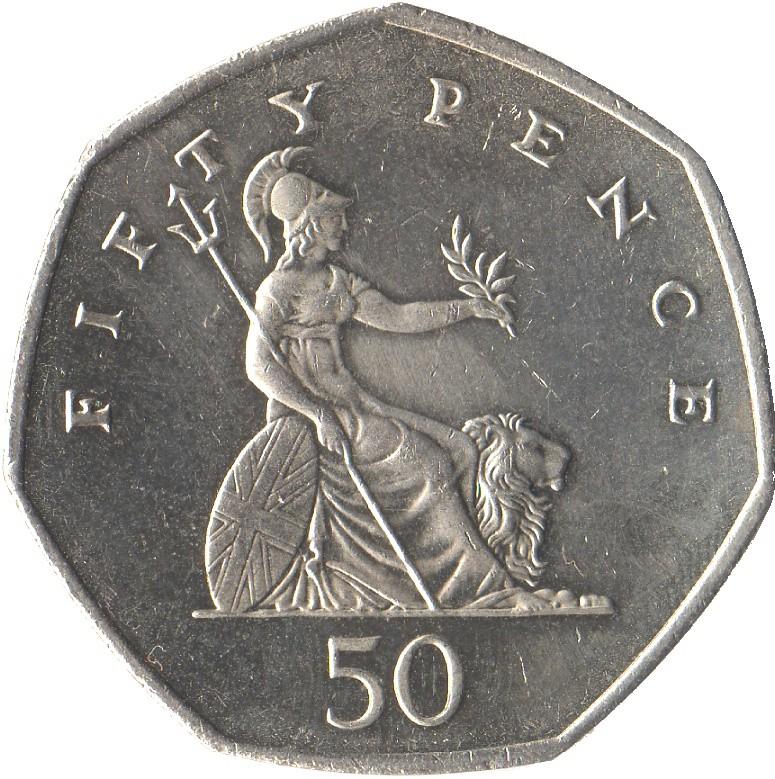 British 50 Pence