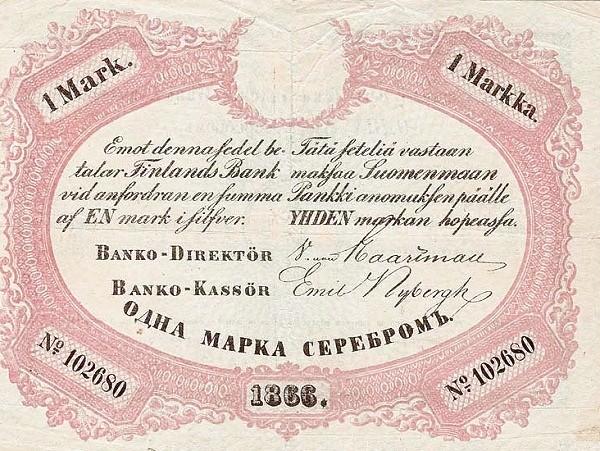 Finland 1 Markka (1864-1866)