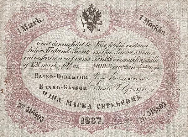 Finland 1 Markka (1866-1875)