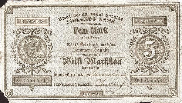 Finland 5 Markkaa (1866-1875)