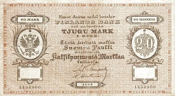 Finland 20 Markkaa (1882-1884)