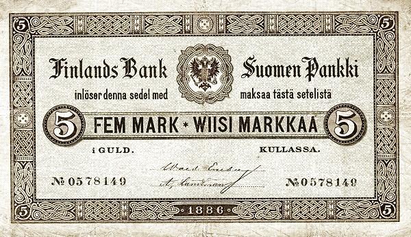 Finland 5 Markkaa (1886-1894)