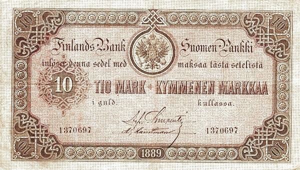 Finland 10 Markkaa (1886-1894)