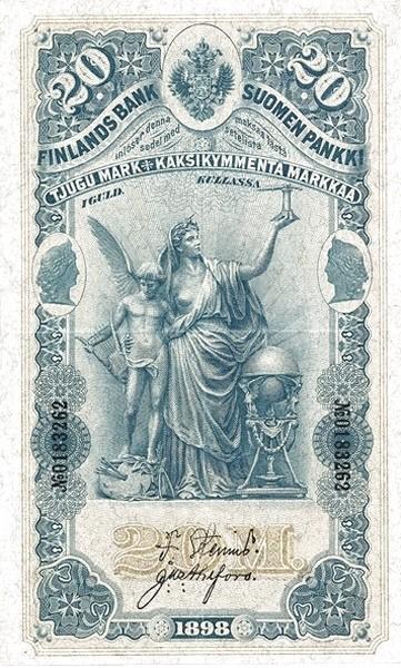 Finland 20 Markkaa (1897-1898)