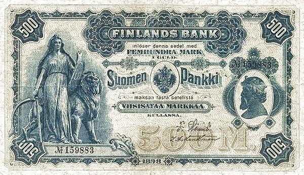 Finland 500 Markkaa (1897-1898)