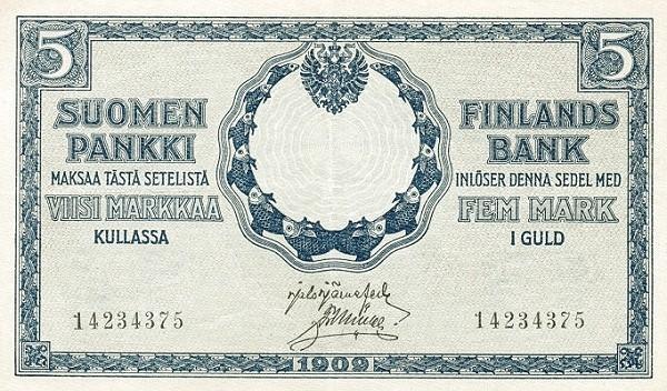 Finland 5 Markkaa (1909)