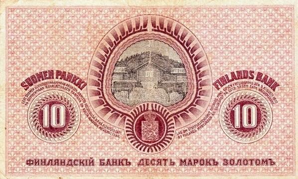 Finland 10 Markkaa (1909)