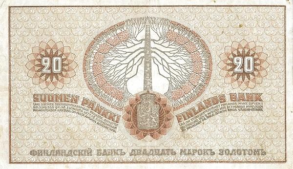 Finland 20 Markkaa (1909)