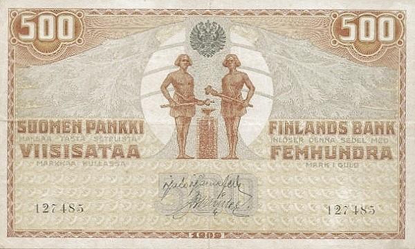 Finland 500 Markkaa (1909)