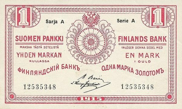 Finland 1 Markka (1915)
