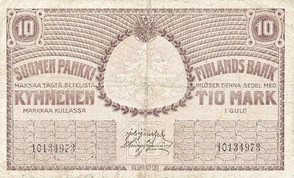 Finland 10 Markkaa (1917)