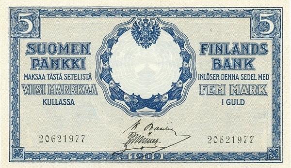 Finland 5 Markkaa (1918)