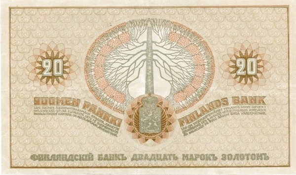 Finland 20 Markkaa (1918)