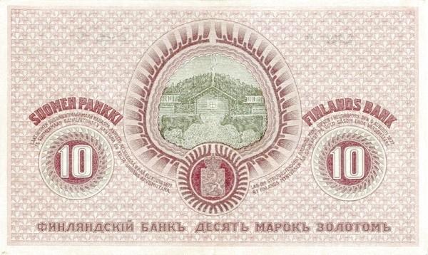 Finland 10 Markkaa (1909  Litt. A)