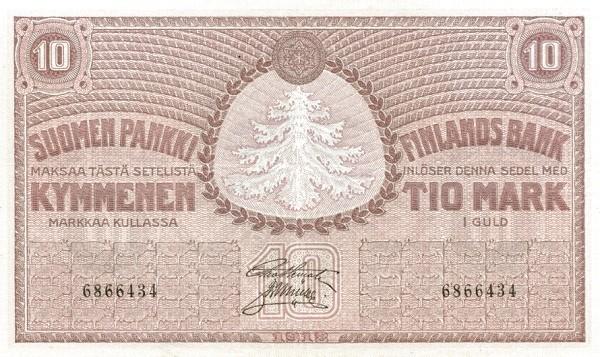 Finland 10 Markkaa (1918)