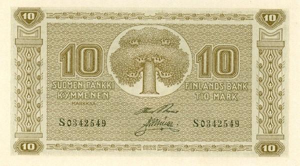 Finland 10 Markkaa (1922)
