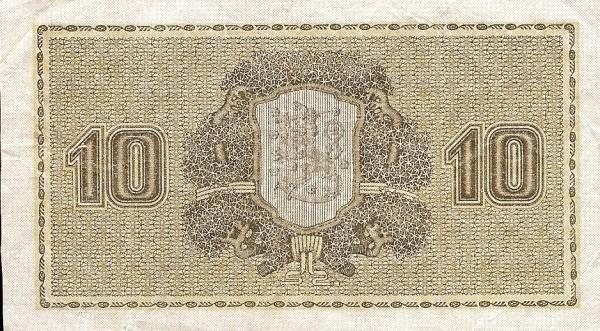 Finland 10 Markkaa (1922 Litt. A)