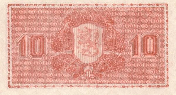 Finland 10 Markkaa (1945 Litt. A)
