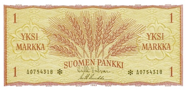 Finland 1 Markka (1963)