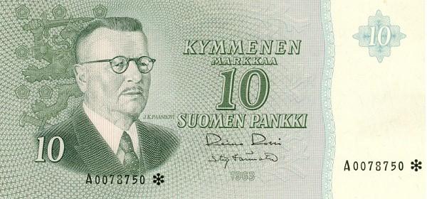 Finland 10 Markkaa (1963)