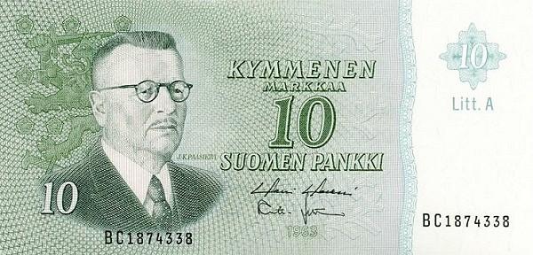Finland 10 Markkaa (1963 Litt. A)