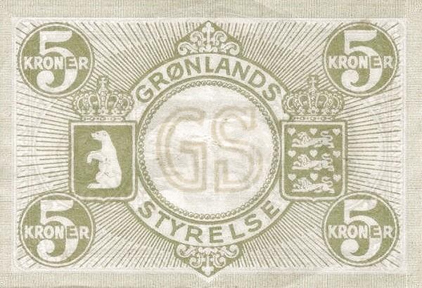 Greenland 5 Kroner (1926-1945)