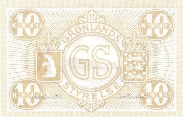 Greenland 10 Kroner (1926-1945)