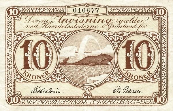 Greenland 10 Kroner (1945)