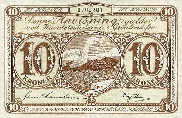 Greenland 10 Kroner (1953-1967)