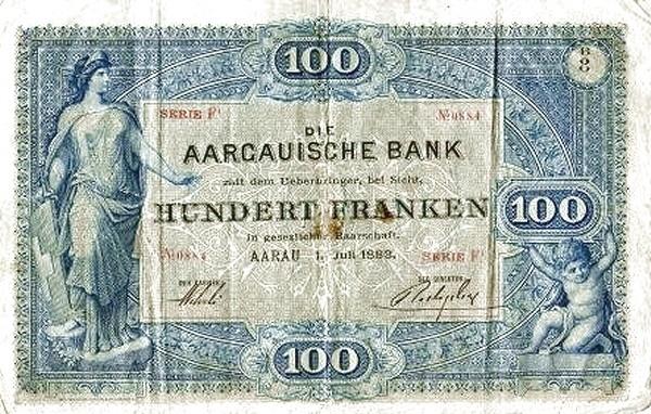 Switzerland 100 Franken (1883-1910)