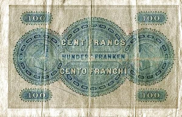 Switzerland 100 Franken (1883-1910 Kantonalbank)